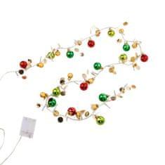 Butlers LED Světelný řetěz s kuličkami - červená/zelená