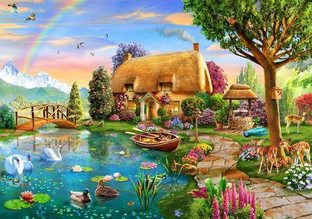 Blue Bird Puzzle 1000 db Lakeside Cottage