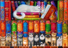 Blue Bird Cat Bookshelf 1000 dielikov