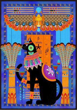 Grafika Puzzle 1000 db Egyptian Cat