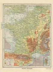 Grafika Puzzle 2000 dílků Map of France - Larousse, 1925