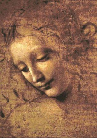 Grafika Puzzle 1000 db Leonardo da Vinci: La Scapigliata, 1508