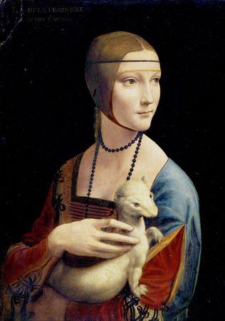 Grafika Puzzle 1000 db Léonard de Vinci : La Dame à l'Hermine, 1489-1490