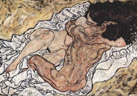 Grafika Puzzle 1000 db Egon Schiele : The Embrace (The Loving), 1917