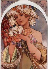 Grafika Puzzle 1000 db Alfons Mucha : La Fleur, 1897