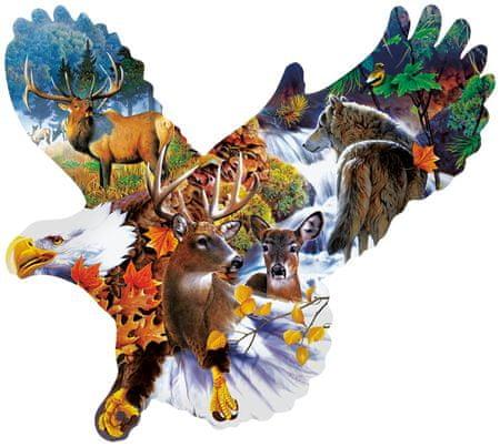 SunsOut Puzzle 1000 db Jerry Gadamus - Forest Eagle