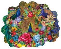 SunsOut Puzzle 1000 dílků Aimee Stewart - Garden Peacock