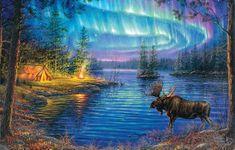 SunsOut Puzzle 1000 dílků Abraham Hunter - Northern Night