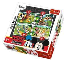 Trefl 4 Jigsaw Puzzles - Mickey Mouse & Friends