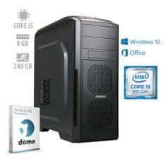 mimovrste=) namizni računalnik Business+ i5-8400/8GB/SSD240GB/W10H + 1 leto Office 365 (ATPII-PF7G-3069)