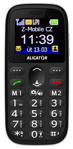 Aligator A510 Senior, mobil pro důchodce, velká tlačítka, čitelné písmo, SOS tlačítko, funkce najít telefon.