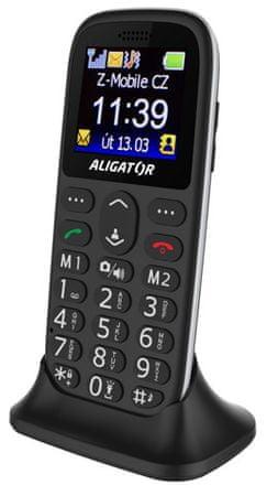 Aligator A510 Senior černý + stol. nab.