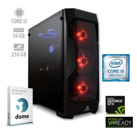 mimovrste=) namizni računalnik Gamer i5-8400/16GB/SSD250GB/GTX1660/FreeDOS (ATPII-PF7G-3067)