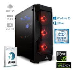mimovrste=) namizni računalnik Gamer+ i5-8400/16GB/SSD250GB/GTX1660/W10H + 1 leto Office 365 (ATPII-PF7G-3070)