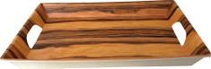 DUE ESSE Podnos s uchy Bamboo Nature 38,5 x 28,5 cm, tmavý