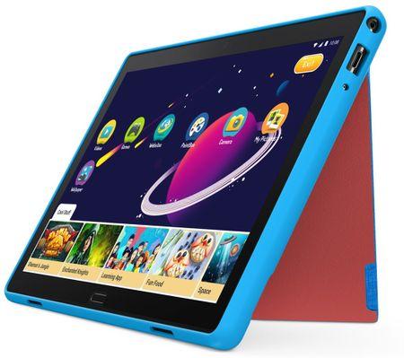 Lenovo futerał ochronny Kids Case - solidny futerał ze stojakiem + folia na wyświetlacz dla TAB P10 (niebieski), ZG38C02616