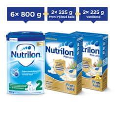 Nutrilon 2 pokračovací kojenecké mléko 6x 800g + Nutrilon kaše 4x 225g
