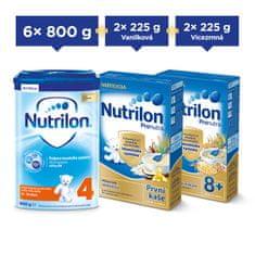 Nutrilon 4 batolecí mléko 6x 800g + Nutrilon kaše 4x 225g