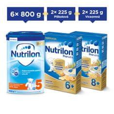 Nutrilon 5 dětské mléko 6x 800g + Nutrilon kaše 4x 225g