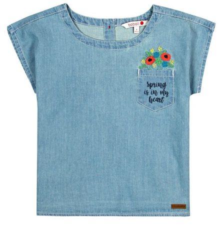 Boboli dievčenské džínsové tričko 98 modrá