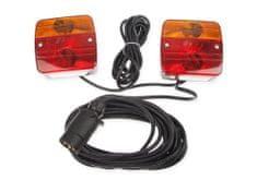 MULTIPA Elektrokabeláž k vleku, sada magnetického osvětlení s kabeláží 7pin/7,5m, MULTIPA