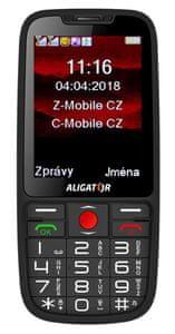 Aligator A890 GPS Senior, mobil pro důchodce, SOS tlačítko, SOS Locator, GPS.