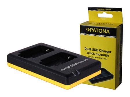 PATONA Nabíječka Foto Dual Quick Canon LP-E6 USB, PT1968