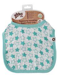 XKKO bambusov slinček Little Stars Turquoise, 1 komad