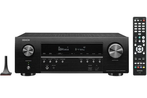 av receiver DENON AVR-s750h 7.2 kanálov HDCP 2.3 6 hdmi vstupov 1 výstup dolby vision hybrid log gamma HLG heos avr remote app Audyssey kalibrácia zvuku