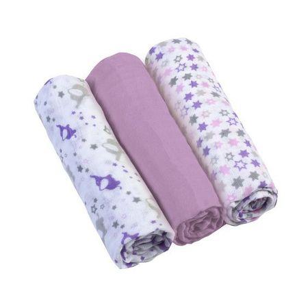 BabyOno Mušelínové plienky 3ks - fialová