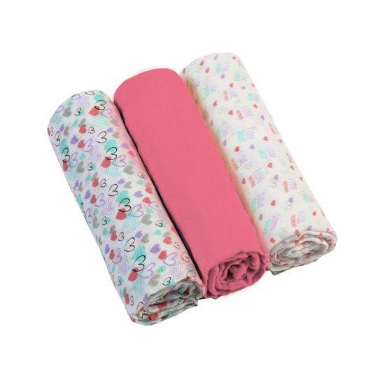 BabyOno Mušelínové plienky 3ks - ružová