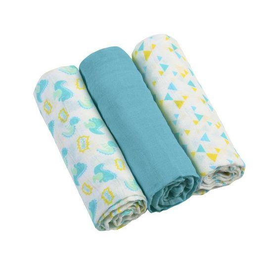 BabyOno Mušelínové plienky 3ks - modrá
