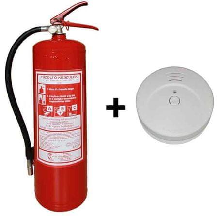 Hastex Készlet tűzoltó készülék P6Te + füst tűzjelző