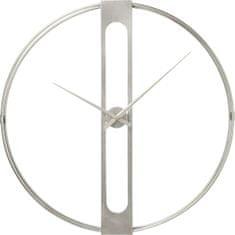 KARE Nástěnné hodiny Clip Silver O60 cm