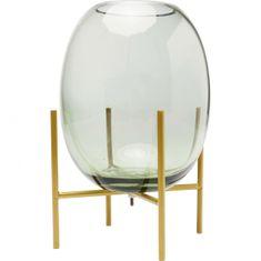 KARE Zelená sklenená váza Stilt 23cm
