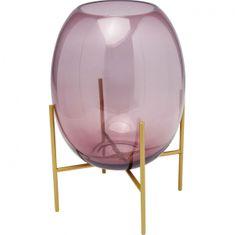 KARE Fialová sklenená váza Stilt 37cm