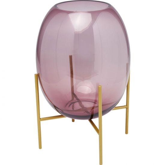 KARE Fialová skleněná váza Stilt 37cm