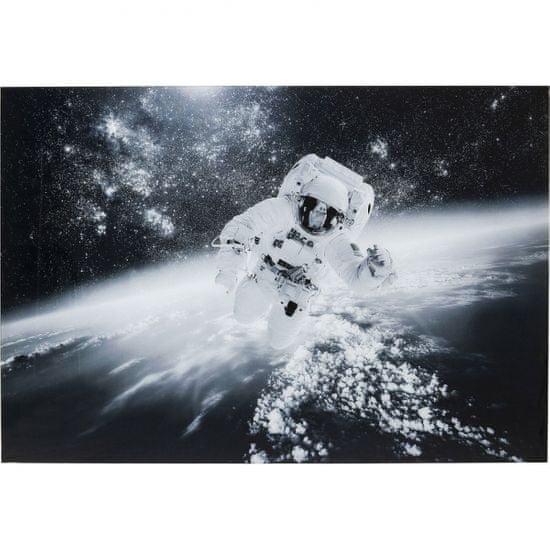 KARE Skleněný obraz Astronaut ve volném vesmíru