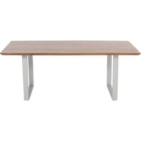 KARE Stůl Synphony Walnut 160×80 cm - stříbrný