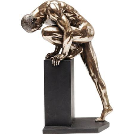 KARE Dekorativní předmět Nude Man Stand 35 cm - bronzový