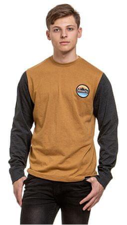 MEATFLY Pánske tričko Judgement C-Ht. Mustard, Ht. Charcoal (Veľkosť L)