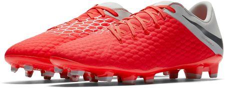 Nike moški nogometni čevlji Phantom 3 Academy Fg, črno sivi, 42
