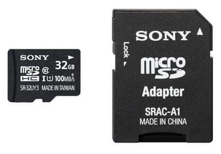 Sony memorijska kartica MicroSDHC 32GB, UHS-I, 100mb/s + adapter