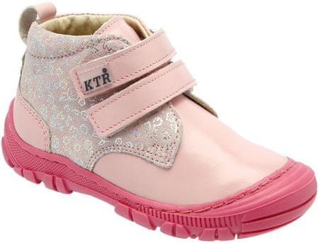 KTR dívčí kotníkové boty 20 světle růžová