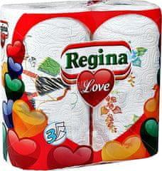 Regina kuhinjske brisačke Love 2/1 3 slojne, 50 list