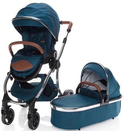 ZOPA otroški voziček Mystic, Charming Blue/Brown, modro-rjav