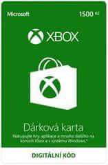 Microsoft Xbox - Dárková karta 1500 Kč (K6W-01250) - elektronicky