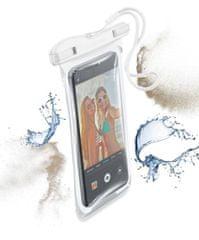 CellularLine Vodotesné univerzálne puzdro pre mobilné telefóny VOYAGER 2019, biele, VOYAGER19W
