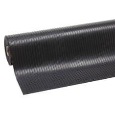 Černá průmyslová rohož Rib 'n' Roll - 10 m a 0,3 cm