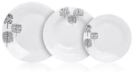 Banquet Sada talířů TIMBER, 18 ks